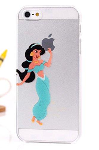 Carcasa Funda Rígida de Plástico Semi Transparente con imagen de Jasmine Aladino para iPhone 4S