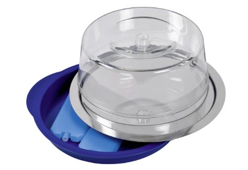 APS Thermo Tablett Set 5-teilig, rund, Durchmesser ca. 35 cm, Höhe 15 cm Edelstahl, Kunststoff kühlbar, im Farbkarton