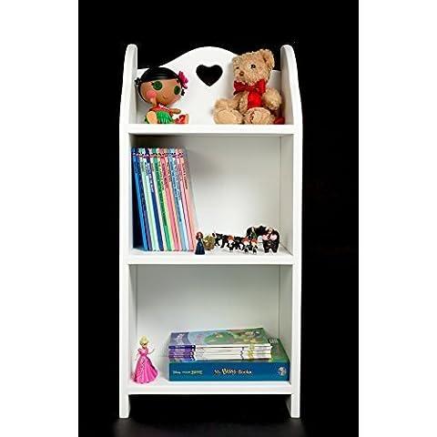 Estantería para libros para niños, en forma de cubo para mueble para con corazón