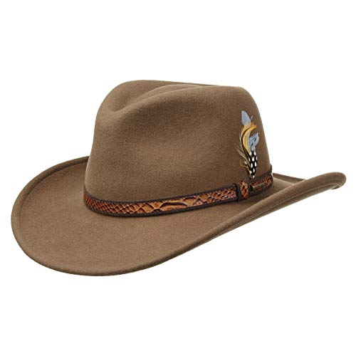 Stetson Chapeau Chalco VitaFelt chapeaux dŽexterieur Outback (M (56-57 cm) - marron)