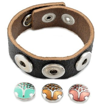 little-chunks-genuine-black-leather-triple-chunk-complete-bracelet-noosa-style-european-interchangea