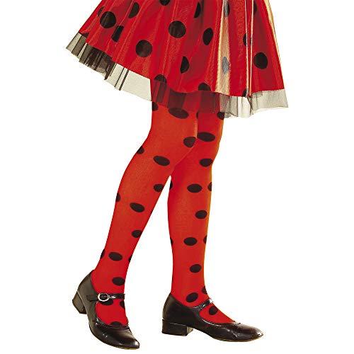Widmann 01244 Strumpfhose Marienkäfer, Mädchen, Rot/Schwarz, 4-6 (80 Jahre Motto Kostüm Jungs)