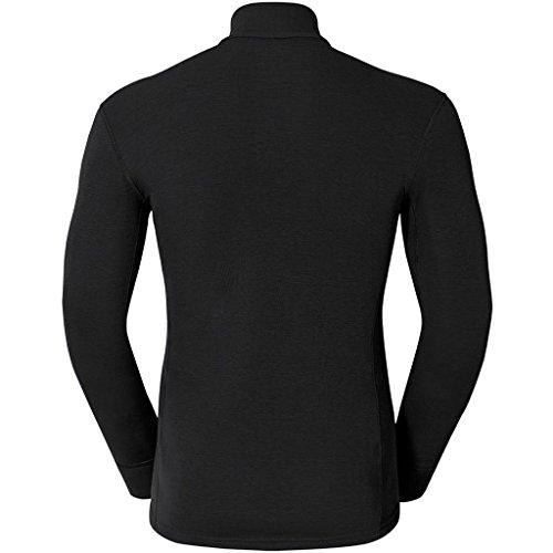 ODLO T-Shirt Termica WARM Maniche Lunghe Collo con Cerniera Nero Taglia XXXL nero - nero