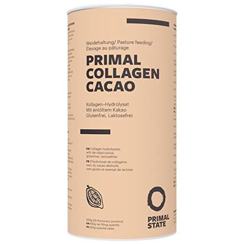 Kollagen Hydrolysat Peptide (natürlicher Kakaogeschmack) | Premium Proteinpulver PRIMAL COLLAGEN Protein | Pulver aus Weidehaltung | Typ I und Typ II | Lift Drink und Laborgeprüft | Kakao - 600g