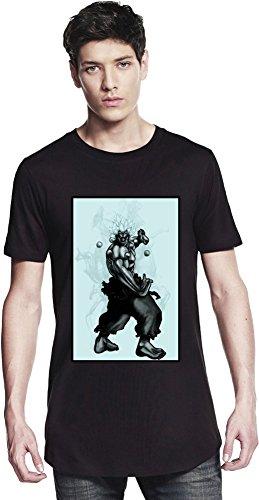 Graphic Oni Illustration Long T-shirt Small