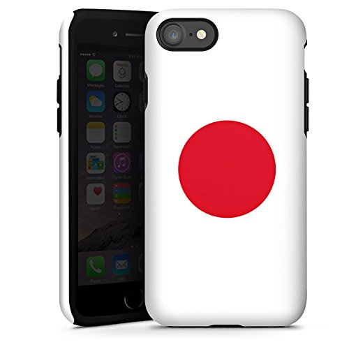 Apple iPhone X Silikon Hülle Case Schutzhülle Japan Flagge Fußball Tough Case glänzend