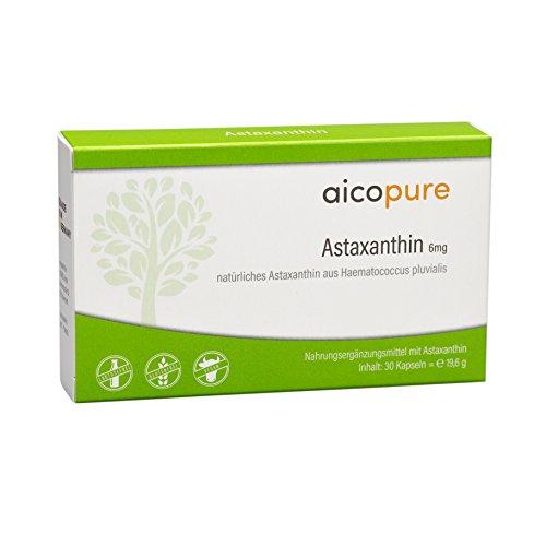 ASTAXANTHIN 6 mg Kapseln • hochdosiert • reine Qualität aus Haematococcus Pluvialis • vegan • Made in Germany (30 Kapseln)
