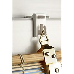 Klemmträger Easyfit Bambus (Nr.15) für Bambusrollos oder leichten Fensterschmuk 4er Set