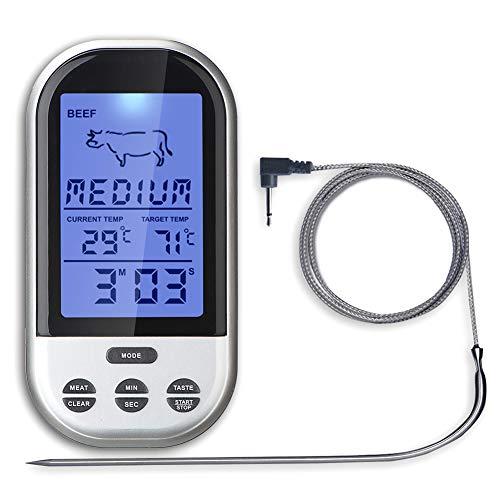 S-Wang - Termómetro digital inalámbrico para carne,...