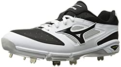 Mizuno Mens Dominant IC Baseball Shoe, White/Black, 11. 5 D US