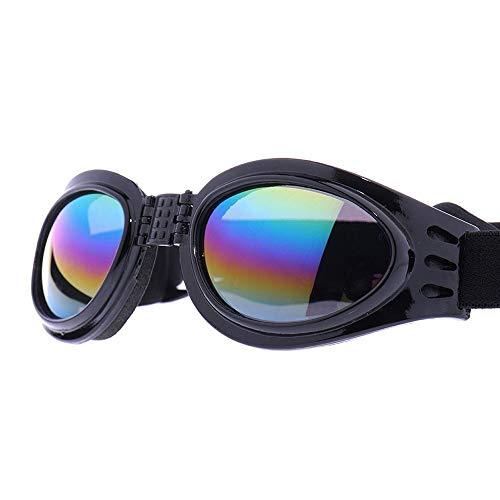 Haustierkleidung Haustier-Sonnenbrille-Hundebrille-Augen-Abnutzungs-Mode-UVschutz windundurchlässiges Antibeschlag-wasserdichtes faltbares Schwarzes für Katzen-Hund Geeignet für Katzen und Hunde
