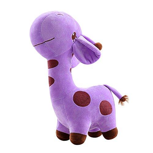 Preisvergleich Produktbild Eizur Giraffe Weich Plüsch Plüschtier Spielzeug Puppen Baby Kinder Stofftier Tier Puppe Christmas Geschenk Geburtstagsgeschenk Kind Party Weihnachtsdeko Größe 25cm--Lila