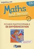 Maths tout terrain CE2 : Fichier photocopiable de différenciation