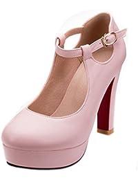 Amazon.es  Zapatos Tacon Ancho - 8 - 11 cm   Zapatos para mujer ... c90ca2dfc6d6