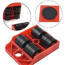 Lunji - Juego de rodillos para mudanza, para muebles, aparatos, trasporte, ruedas