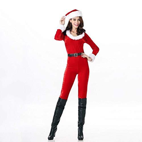 SPFAZJ Santa Anzug Kostüm rot Langarm-Weihnachten Jumpsuit von -