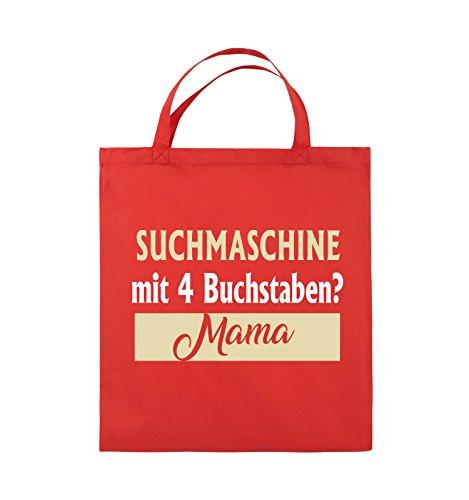 38x42cm Mama Henkel Rot mit Bags Jutebeutel 4 Neongrün Weiss Beige Farbe Schwarz kurze Suchmaschine Buchstaben Comedy Weiss wXpqUzn