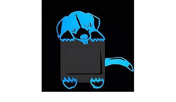 TM Color/é B Interrupteur D/écorations Chambre de b/éb/é Stickers Chat Autocollant Mural lumineux dans lobscurit/é