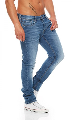 JACK & JONES Herren Jeans Normaler Bund TIM ORIGINAL 12055160 Blau (Blue  Denim AT 010 ...