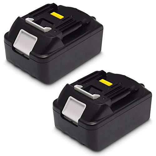 2 Stück 18V 5.0Ah Ersatz Werkzeug Akku für Makita Rasenmäher DLM431Z DLM380Z Kettensäge DUC353Z Gebläse DUB362Z DUB361Z DUB183Z Rucksackstaubsauger DVC260Z Winkelschleifer DGA504Z DGA506Z DGA504ZJ