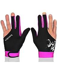 Interesting® 1pc Cue 3 dedo Nylon Spandex guante de Billar Pool de billar sin mano izquierda derecha