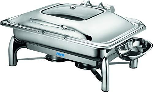 Saro 213-1200 Induktion Chafing Dish mit Deckel, 1/1 GN, 9L 9 Liter Chafing Dish