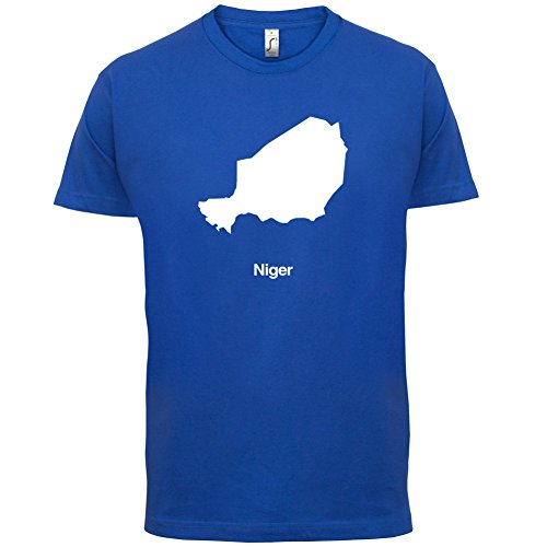 Niger / Republik Niger Silhouette - Herren T-Shirt - 13 Farben Royalblau