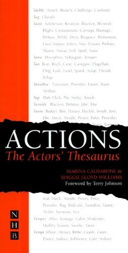 Actions: The Actor's Thesaurus by Caldarone, Marina, Lloyd-Williams, Maggie (2004) Paperback