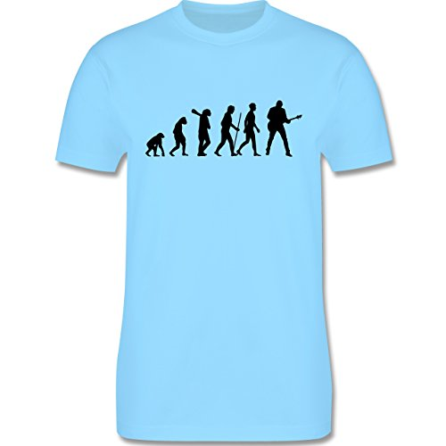 Evolution - Gitarrist Evolution - Herren Premium T-Shirt Hellblau