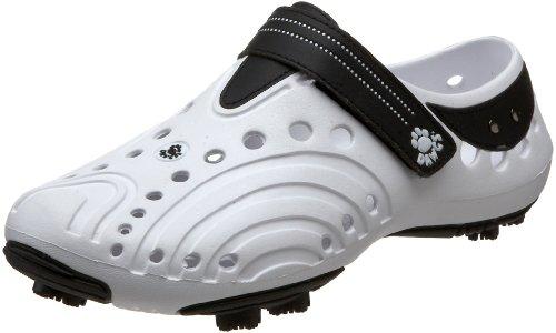 DAWGS Men's Spirit Lightweight Golf Shoes, White with Black, 9