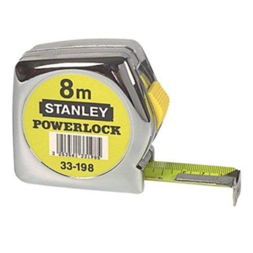 Preisvergleich Produktbild Stanley Powerlock Bandmaß 8m, metrische Skalierung, Feststeller, automatischer Rücklauf, Gürtelclip, 0-33-198