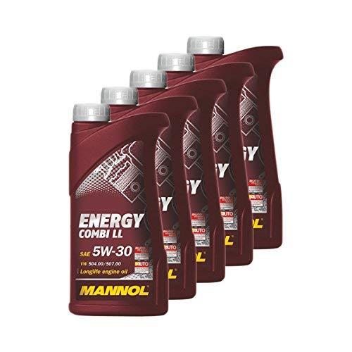 5X MANNOL MN7907-1 Energy Combi LL 5W-30 Motoröl API SN/CF 1L