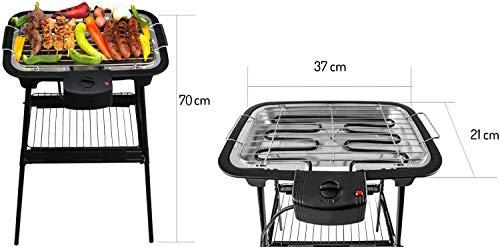 2 in 1 Elektro Grill | 2.000 Watt | Standgrill | Tischgrill | Partygrill | elektrischer BBQ Grill | Cool Touch Griffe | Tisch Grill elektrisch |