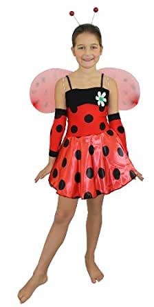 I Love Fancy Dress ILFD7029S Girls Lady Bug Costumes (Small)
