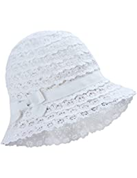 5576d0455d7 Vivo-biniya Baby Hat Toddler Girl Sun Hats Lovely Flower Hats Lace Hollowed  Out