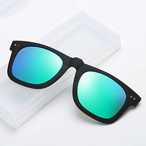 TDPYT Farbe Clip Nachtsicht Brille Runde Quadrat Niet Fahren Brille Polarisierte Sonnenbrille Männer Clip