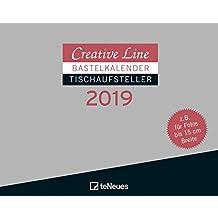 Bastelkalender Tischaufsteller quer 2019 - Creative Line, Kreativ, Kalender - 16 x 20 cm
