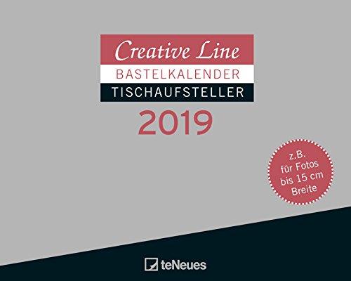 Creative Line Bastelkalender 2019 Tischaufsteller quer: Bastelpapier schwarz
