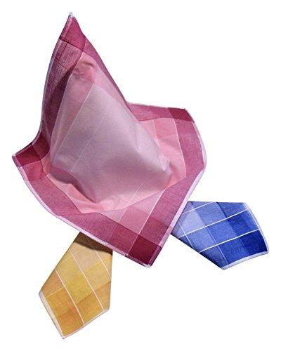 6 Damen Stoff-Taschentücher in unterschiedlichen wählbaren Designs, 30 cm x 30 cm (30 cm x 30 cm, Farbvariante 10)