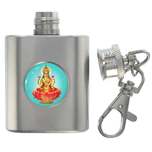 Diwali Design Miniatur Edelstahl Fläschchen Schlüsselanhänger