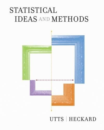 Statistical Ideas and Methods (with CD-ROM) por Jessica M. Utts