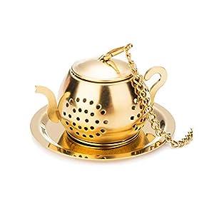 FGRYB Infuseurs à thé pour thé en vrac, maille fine en acier inoxydable pour bouteille/théière/tasses à thé/mug/thé au fenouil/thé Rooibos/thé aux herbes (argent)