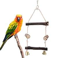 Alinory Bird Toys, Parrots Toy Bird Chewing Toys Hanging Wooden Toy Parrots Playing Toy