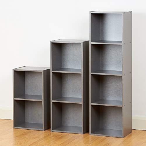Roost - 3er-Set Bücherregal Grau - Enthält 2, 3 u. 4 Würfelfächer (Jugend-möbel Schlafzimmer-sets)