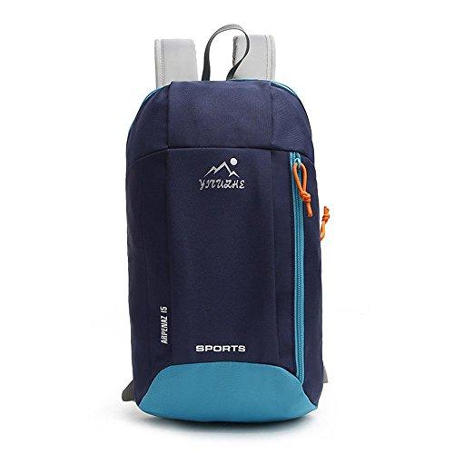 VERTAST Zaino da viaggio per bambini ultraleggero da 15L, zainetto sportivo per donna stile casual adatto per uso quotidiano, B grigio D blu