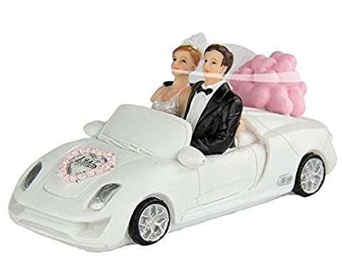 Wedding Figure - Bride And Groom With Car