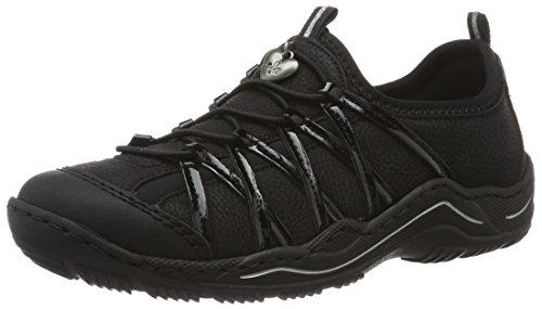 Rieker Damen L0559 Sneaker, Schwarz / 00, 39 EU