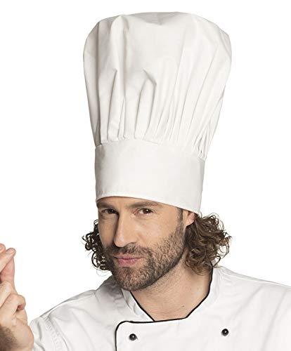 Boland 01404 Kochmütze Chef Deluxe, Weiß (Deluxe Chef Hut)