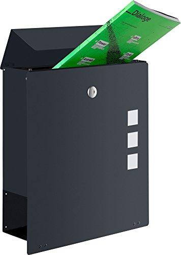 Frabox Design Briefkasten NAMUR EXKLUSIV Stahl lackiert, RAL 7016 Anthrazitgrau - 2