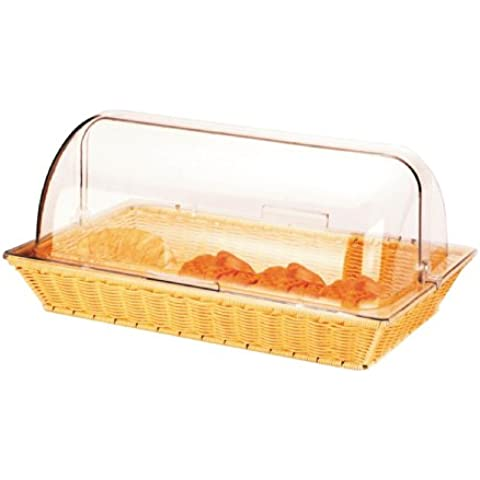 Commercial Bread Display Basket with Roll Top Hygiene Cover ideal